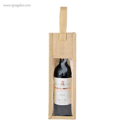 Bolsa de yute para vino detalle _ Rg regalos publicitarios (2)
