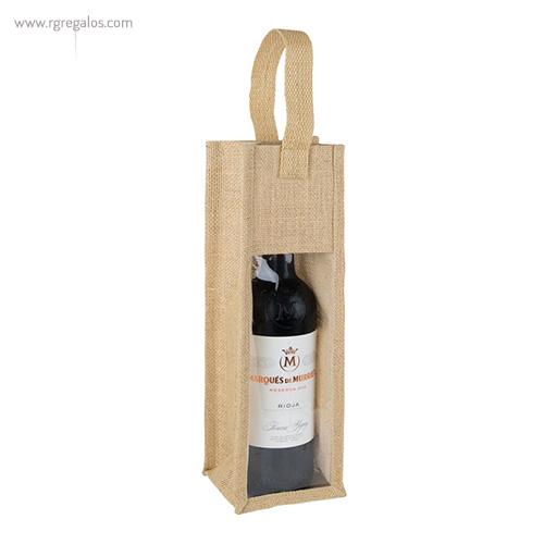 Bolsa de yute para vino perfil - RG regalos publicitarios