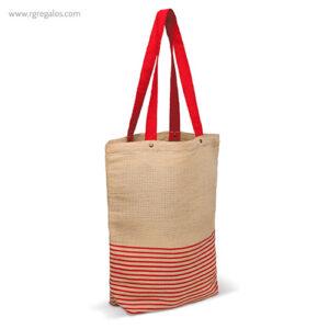 Bolsa de yute y algodón roja - RG regalos publicitarios