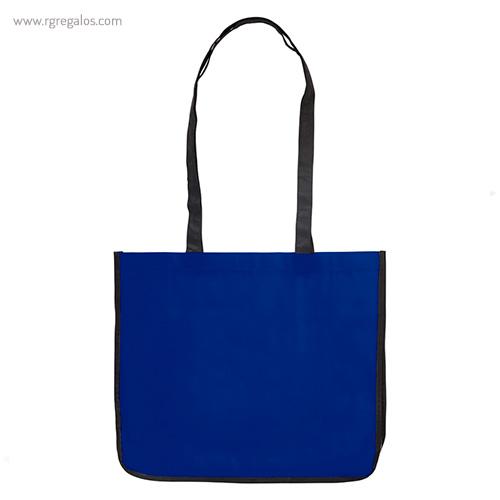 Bolsa grande de PP Woven azul frontal- RG regalos publicitarios