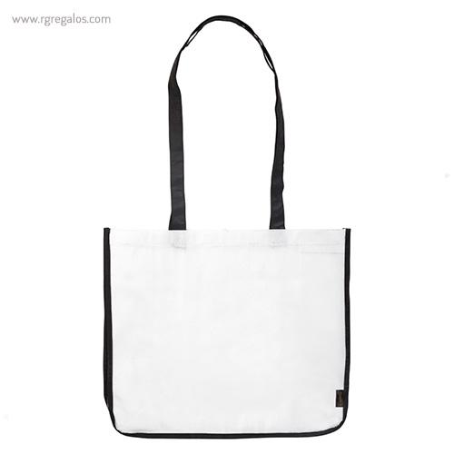 Bolsa grande de PP Woven blanca frontal- RG regalos publicitarios