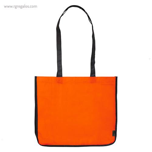 Bolsa grande de PP Woven naranja frontal- RG regalos publicitarios