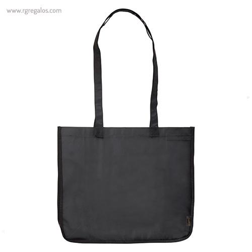 Bolsa grande de PP Woven negra frontal- RG regalos publicitarios
