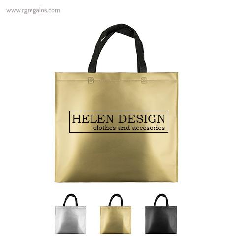 Bolsa metalizada mate logotipo - RG regalos publicitarios
