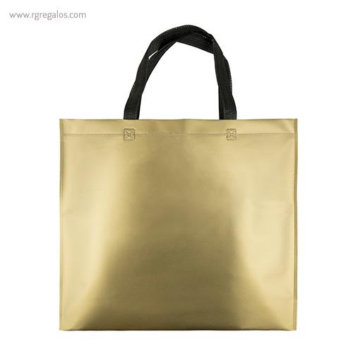 Bolsa metalizada mate dorada - RG regalos publicitarios
