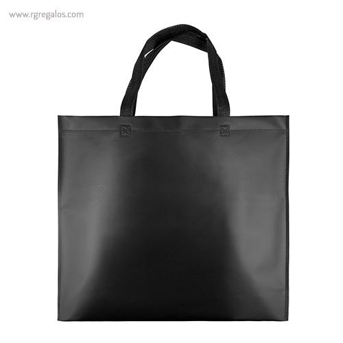 Bolsa metalizada mate negra - RG regalos publicitarios