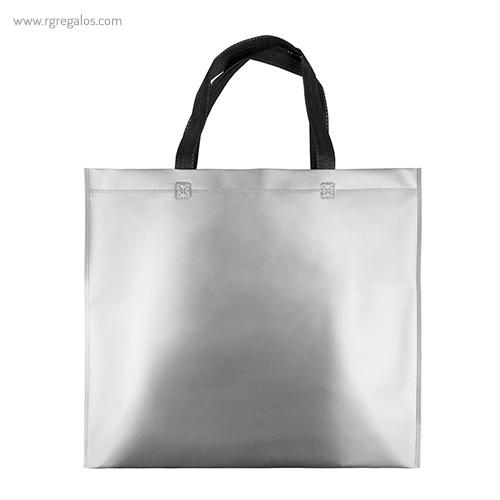 Bolsa metalizada mate plata - RG regalos publicitarios