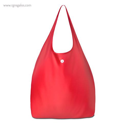 Bolsa plegable con funda rojo - RG regalos publicitarios