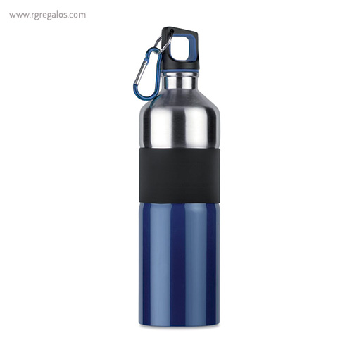 Botella de acero inoxidable bicolor azul - RG regalos publicitarios