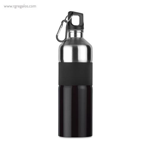 Botella de acero inoxidable bicolor negro - RG regalos publicitarios