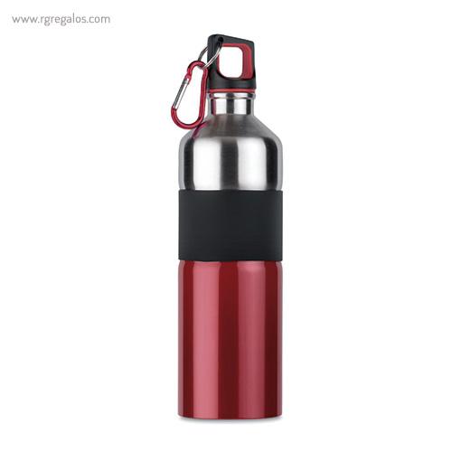 Botella de acero inoxidable bicolor roja - RG regalos publicitarios