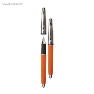 Pluma Borghini V110 efecto soft touch naranja - RG regalos publicitarios