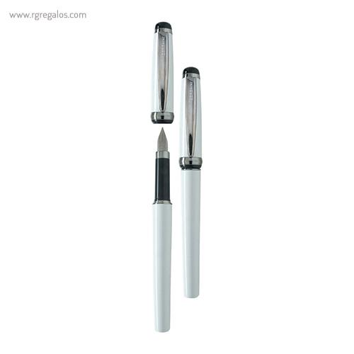Pluma Borghini plástico V48 sport blanca - RG regalos publicitarios