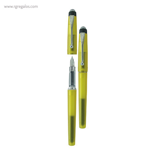 Pluma Borghini plástico V71 transparente amarillo - RG regalos publicitarios