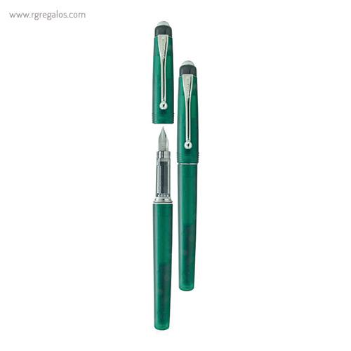 Pluma Borghini plástico V71 transparente verde - RG regalos publicitarios