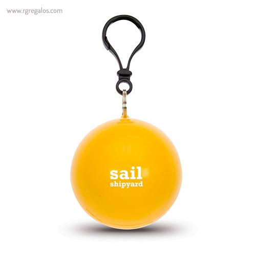 Poncho lluvia personalizado amarillo - RG regalos publicitarios