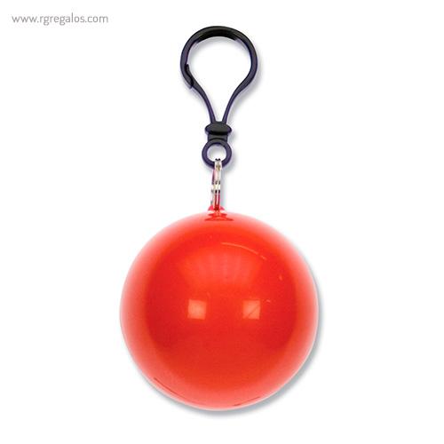 Poncho lluvia personalizado rojo - RG regalos publicitarios