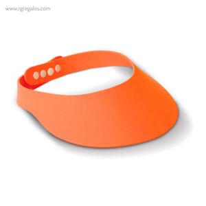 Visera para el sol publicitaria naranja - RG regalos publicitarios