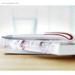 Bolígrafo giratorio en ABS blanco detalle - RG regalos publicitarios