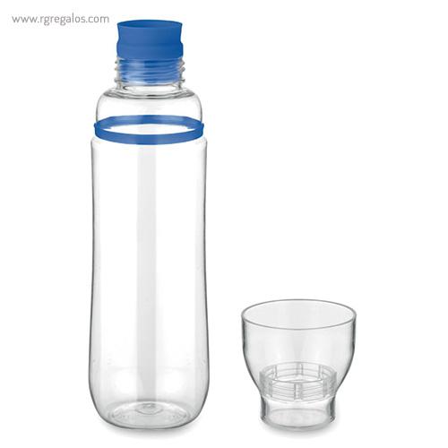 Botella de tritán anti-fugas azul logo- RG regalos publicitarios