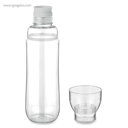 Botella de tritán anti-fugas blanco vaso - RG regalos publicitarios