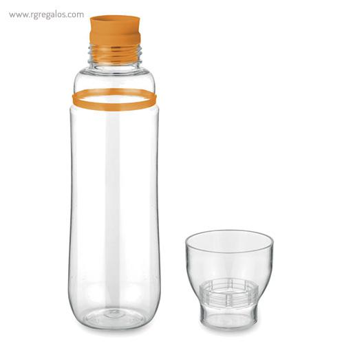 Botella de tritán anti-fugas naranja vaso - RG regalos publicitarios