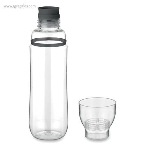 Botella de tritán anti-fugas negra vaso - RG regalos publicitarios