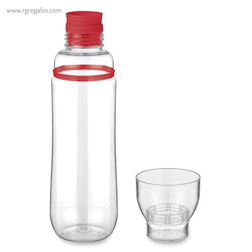 Botella de tritán anti-fugas rojo vaso - RG regalos publicitarios