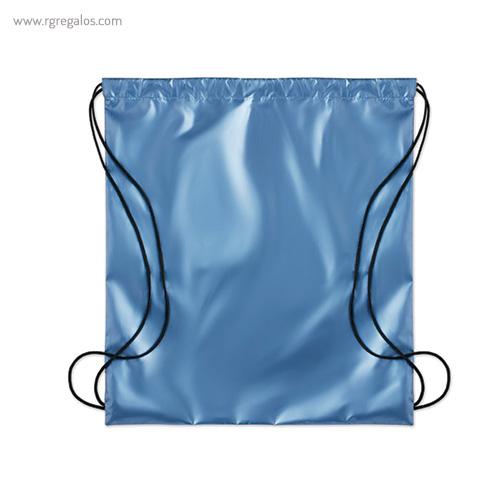 Mochila plana laminada brillante azul 1- RG regalos publicitarios