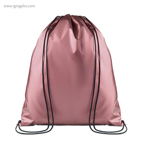 Mochila plana laminada brillante rosa - RG regalos publicitarios