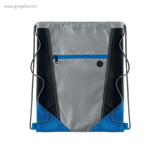 Mochila saco con bolsillo frontal azul - RG regalos publicitarios