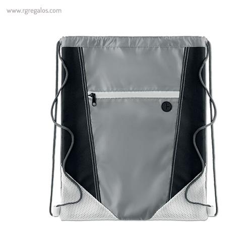 Mochila saco con bolsillo frontal blanca 1 - RG regalos publicitarios
