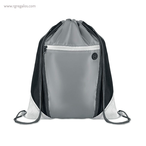 Mochila saco con bolsillo frontal blanca - RG regalos publicitarios