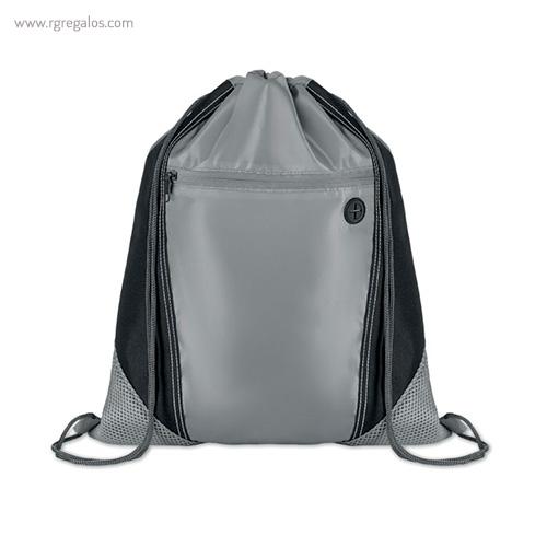 Mochila saco con bolsillo frontal gris - RG regalos publicitarios