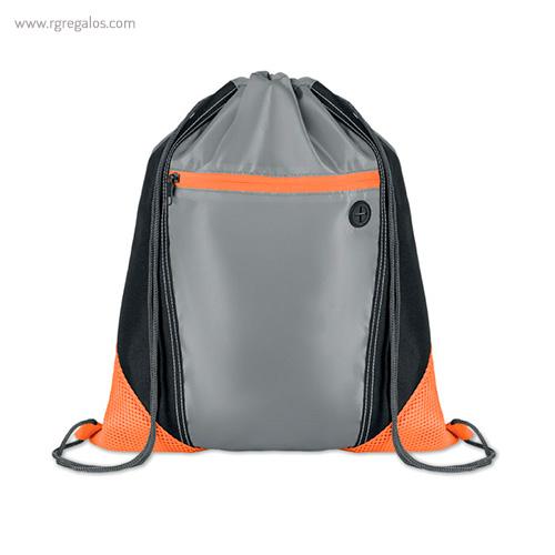 Mochila saco con bolsillo frontal naranja - RG regalos publicitarios