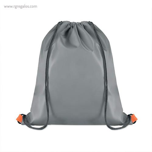 Mochila saco con bolsillo frontal parte trasera - RG regalos publicitarios