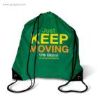 Mochila saco de poliéster verde con logo - RG regalos publicitarios