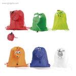 Mochila saco forma animales plegable colores - RG regalos publicitarios