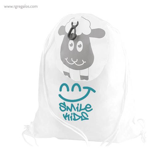 Mochila saco forma animales plegable con logo - RG regalos publicitarios
