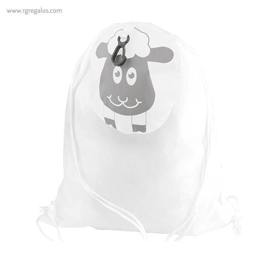 Mochila saco forma animales plegable corderito - RG regalos publicitarios