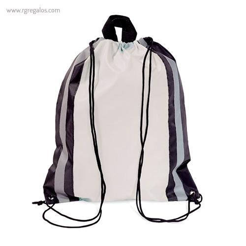 Mochila saco laterales reflectantes blanca - RG regalos publicitarios