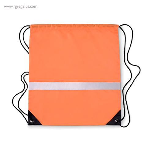 Mochila saco reflectante naranja 1 - RG regalos publicitarios