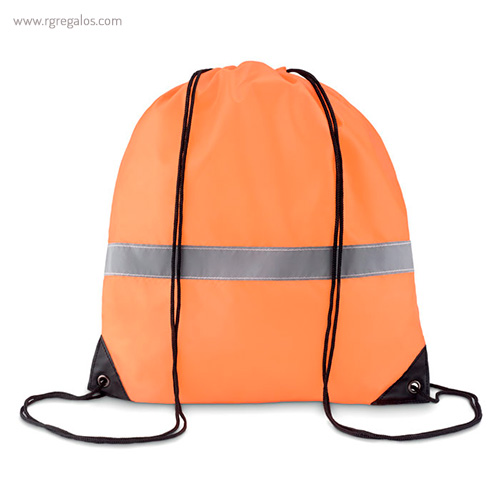 Mochila saco reflectante naranja - RG regalos publicitarios