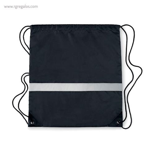 Mochila saco reflectante negra 1 - RG regalos publicitarios