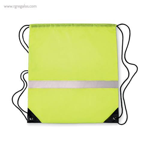Mochila saco reflectante verde 1 - RG regalos publicitarios