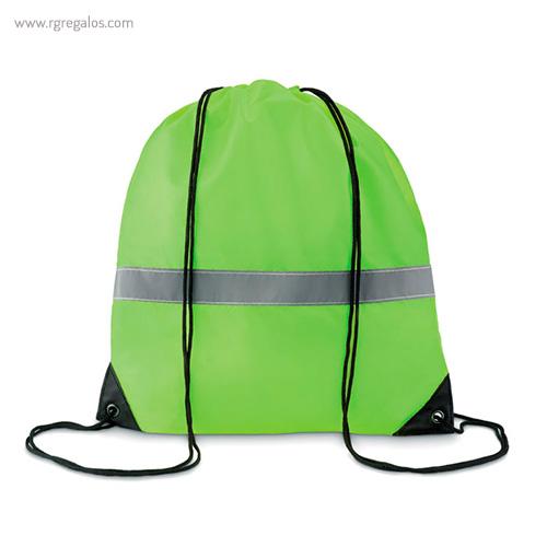 Mochila saco reflectante verde - RG regalos publicitarios