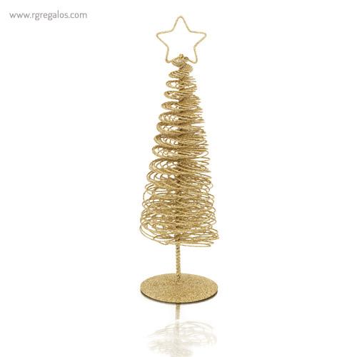 Árbol navidad metálico dorado - RG regalos publicitarios