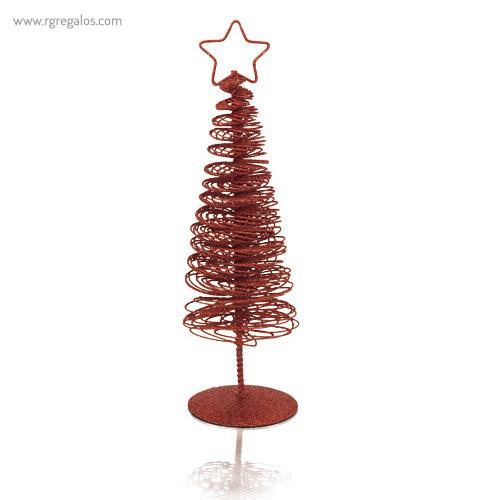 Árbol navidad metálico rojo - RG regalos publicitarios