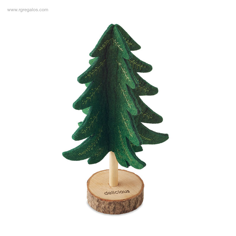 Árbol-navidad-fieltro-RPET-verde-logo-RG-regalos