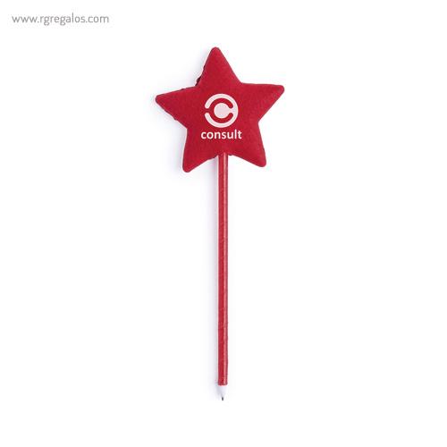 Bolígrafo con estrella poliéster - RG regalos publicitarios